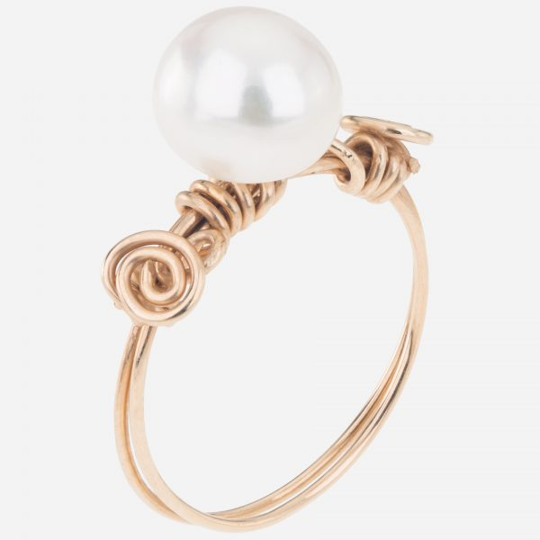 Handmade Gold Fill Freshwater Pearl Wired Ring