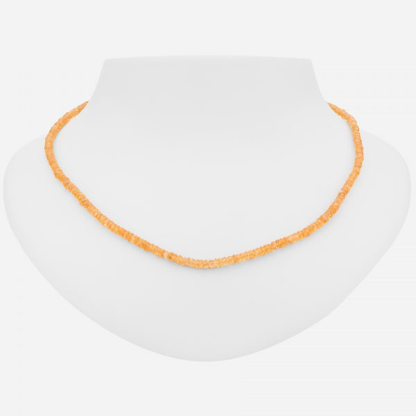 "Sterling Silver 18"" Colorful Spessartite Necklace"