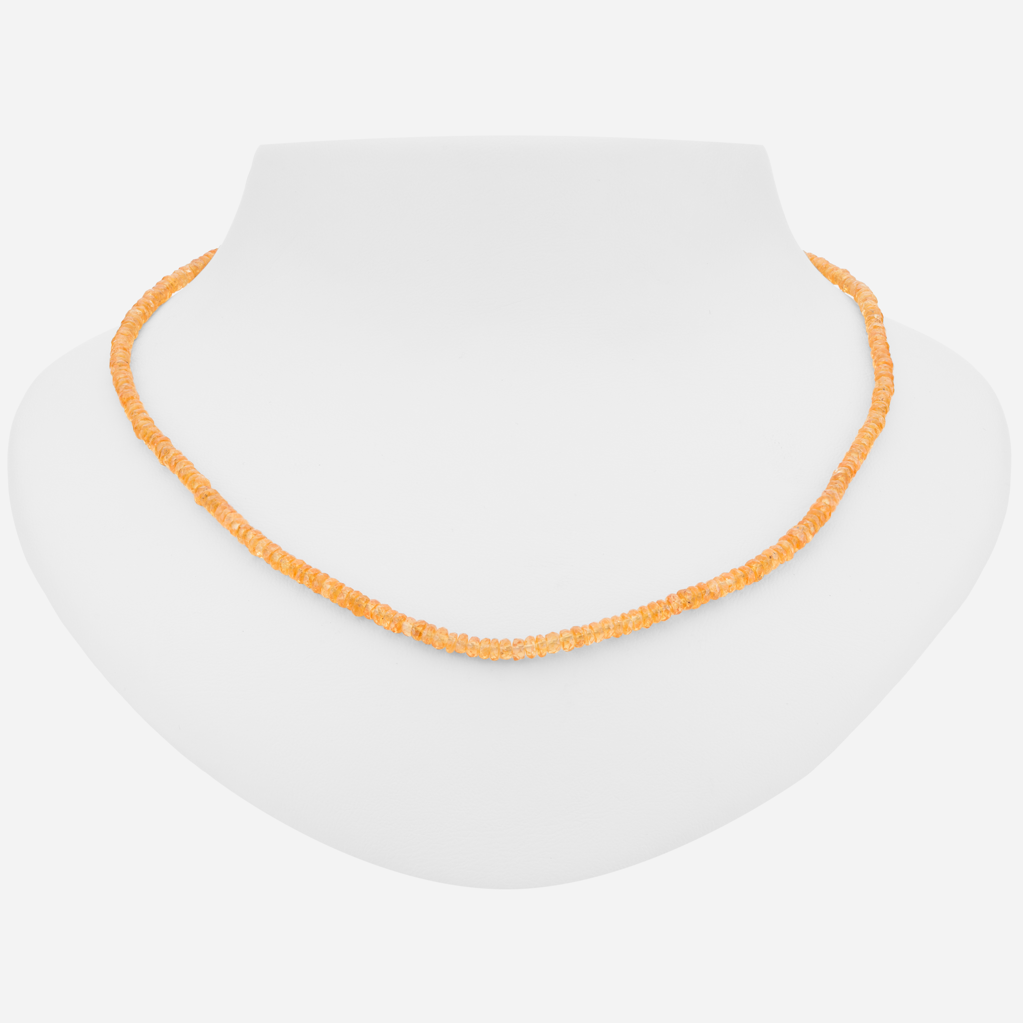 """Sterling Silver 18"""" Colorful Spessartite Necklace"""