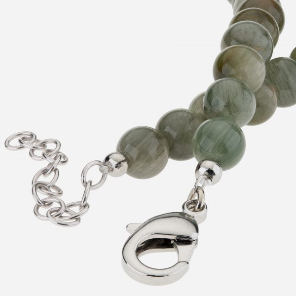 "Sterling Silver 18"" Contemporary Labradorite Necklace"
