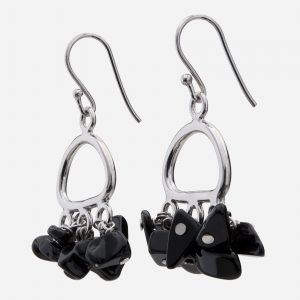 Sterling Silver Black Onyx Chips Earrings