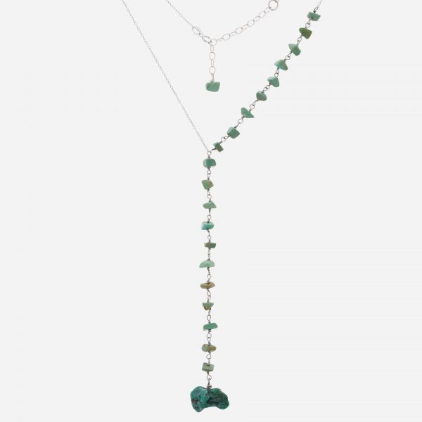 "Tara Mesa  16"" Turquoise Y Drop Necklace"