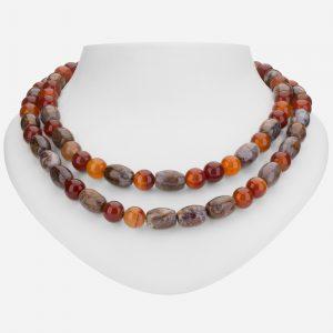 "Tara Mesa 18"" Carnelian and Jasper Bead Necklace"