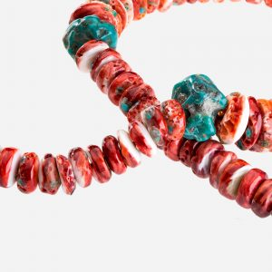 "Tara Mesa 18"" Spiny Oyster and Turquoise Necklace"