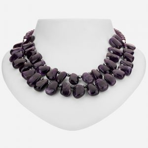"Tara Mesa 19"" Amethyst and Hematite Bead Necklace"