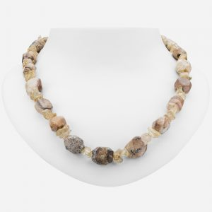 """Tara Mesa 20"""" Picture Jasper and Citrine Chips Beaded Necklace"""