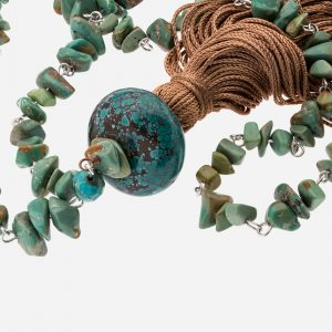 "Tara Mesa 36"" Nevada Turquoise Endless Tassle Necklace"