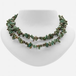 "Tara Mesa 36"" Nevada Turquoise and Pyrite Bead Necklace"