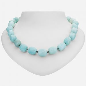 "Tara Mesa 18"" Amazonite and Hematite Bead Necklace"