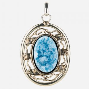 Tara Mesa Blue Druzy Pendant Crafted in German Silver
