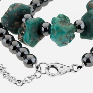 Tara Mesa Campo Frio Turquoise and Hematite Bead Necklace