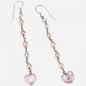 Tara Mesa Heart Freshwater Pearls Drop Bead Earrings
