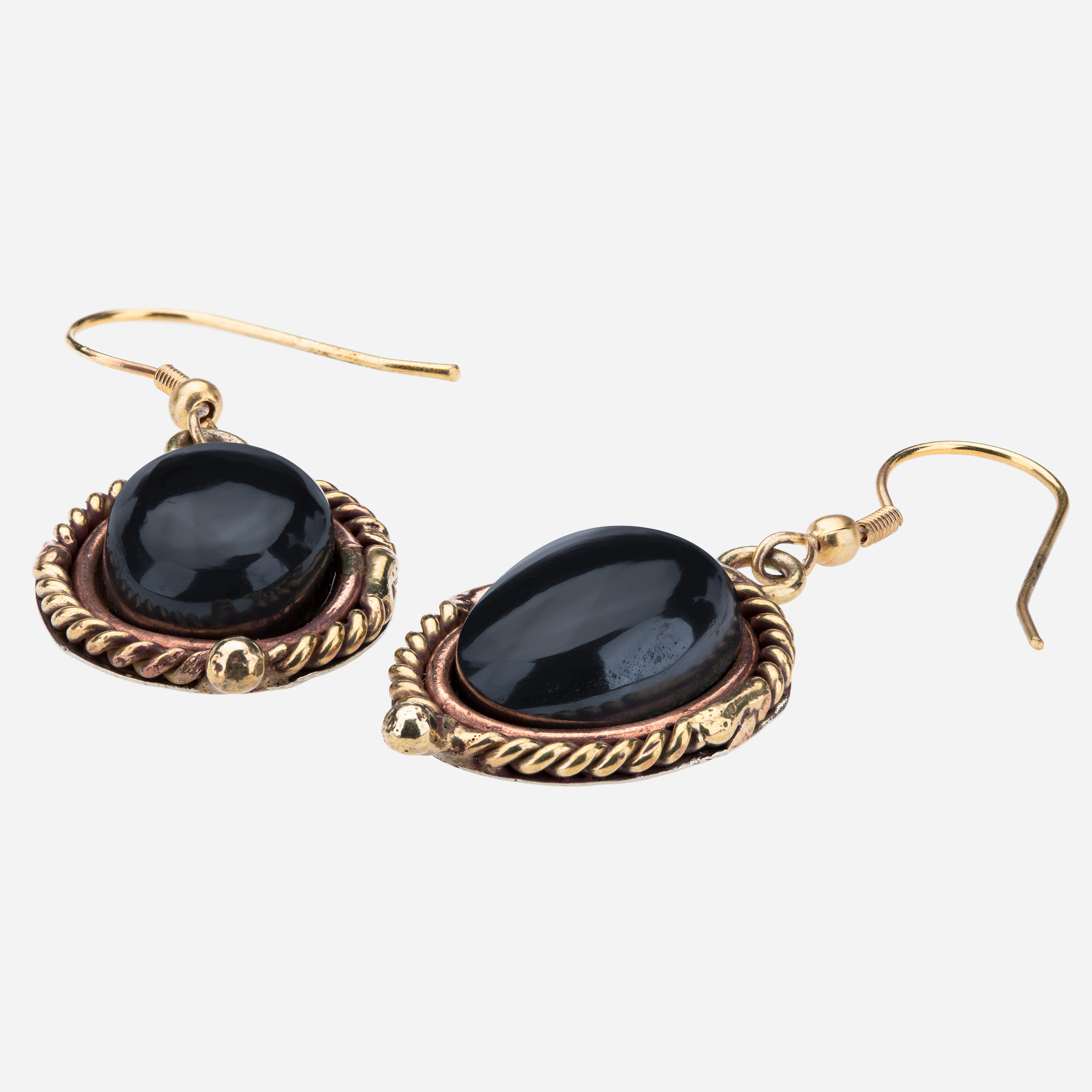 Tara Mesa Hematite Earrings Crafted in German Silver,Brass and Copper