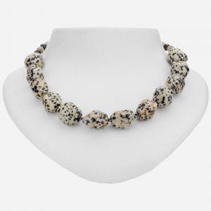 Tara Mesa Ocean and Dalmatian Jasper and Hematite Bead Necklace