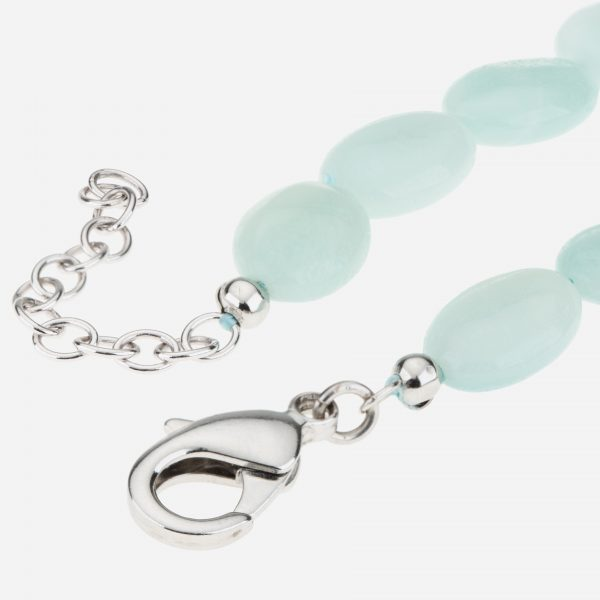 "Tara Mesa Sterling Silver 18"" Milky Aquamarine Beaded Necklace"