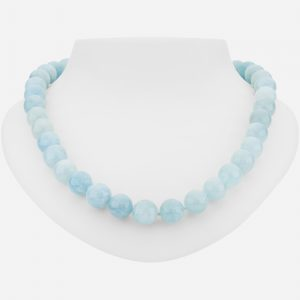 "Tara Mesa Sterling Silver 20"" Gorgeous Amazonite Bead Necklace"